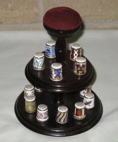 Royal Crown Derby Set of 15 Historical Collection Thimbles on Stand | eBay