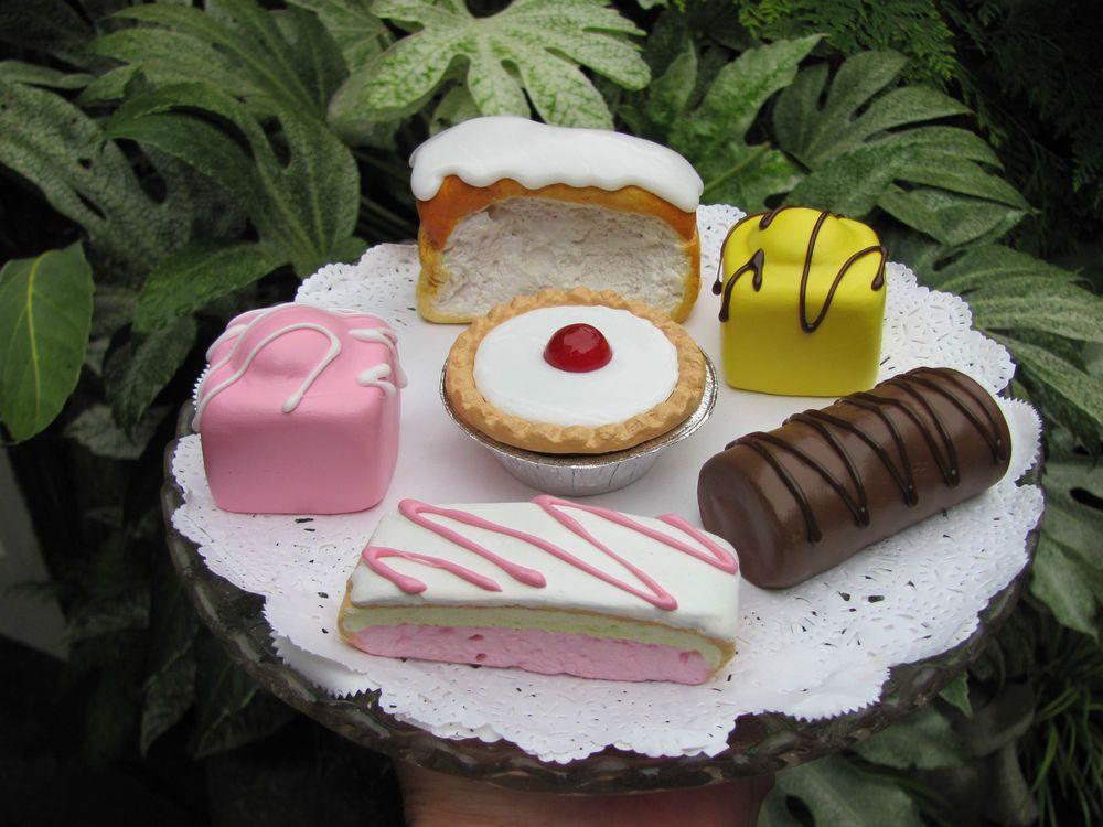 Tea Room Cake Selection Fake Food Artificial Prop Window