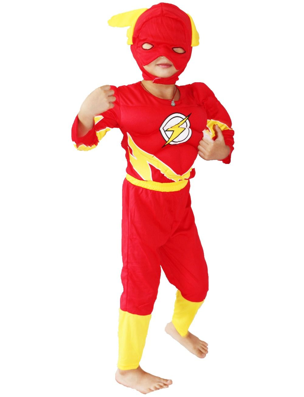 3 - 7 years Party Kids Comic Marvel Flash/Barry Allen Muscle Halloween Costume Kid Flash boy roll play clothing sizeS-XXL  sc 1 st  Pinterest & Marvel Kids Comstume The Flash | Costumes | Pinterest | Flash boys ...