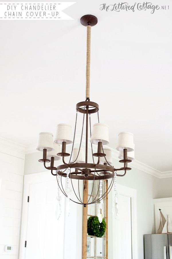 Diy chandelier chain cover up the lettered cottage dining rooms diy chandelier chain cover up the lettered cottage aloadofball Image collections