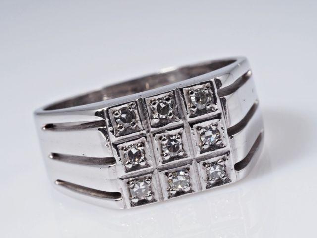 Herren Damen Ring Diamanten ca 11 10 Gramm 585 Gold eBay