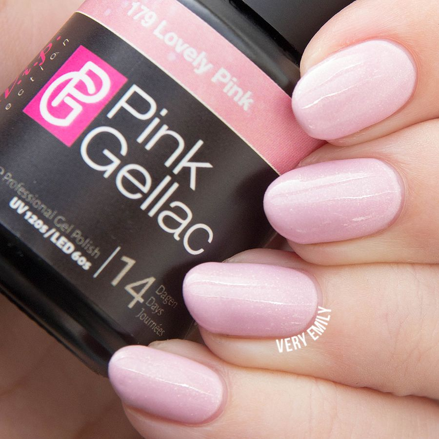Pink Gellac Lovely Pink - Very Emily Gel Polish Swatches | Pinterest ...