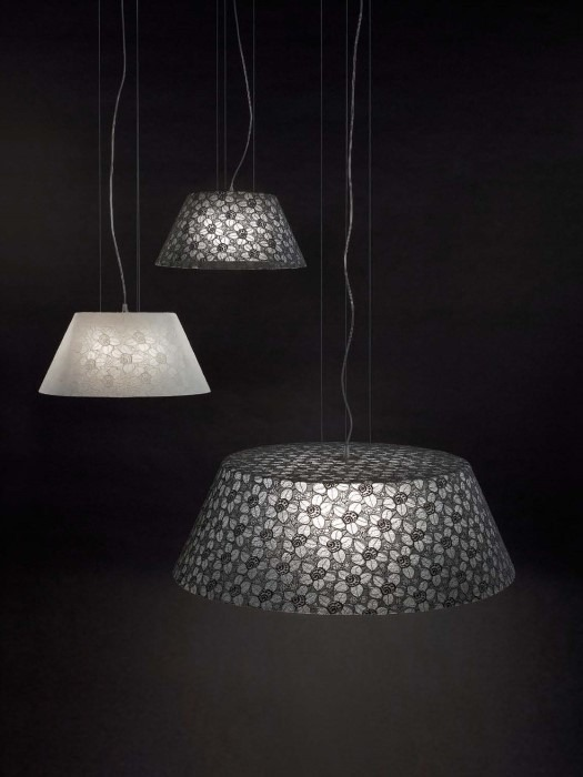 The Ricami Pendant Light Range Is Crafted From Valencienne
