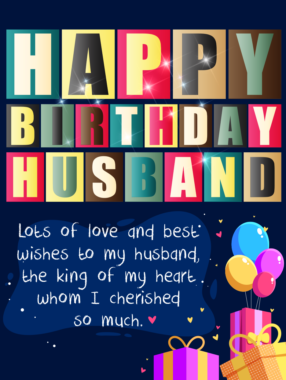 A Party With Love Happy Birthday Husband Cards Birthday Greeting Cards By Davia Happy Birthday Husband Cards Happy Birthday Husband Husband Birthday