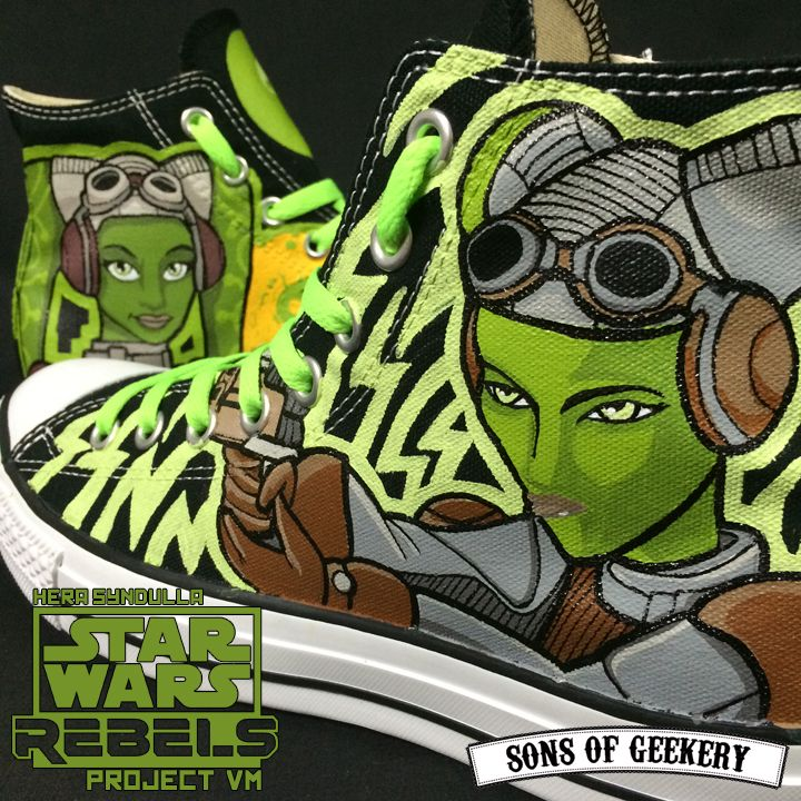 Star Wars Rebels: Hera Syndulla [project VM] custom painted sneakers…