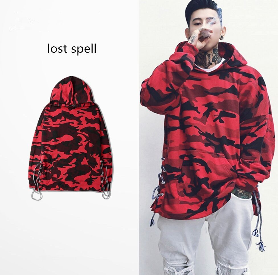 8bb5459b4328 2017 Mens Oversized Camouflage Fashion Hoodies Men Hip Hop Sweatshirts  Streetwear Sudaderas Para Hombre Brand Clothing