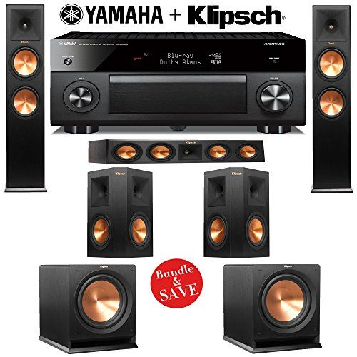 Klipsch RP280F 52 Reference Premiere Home Theater System with Yamaha ...
