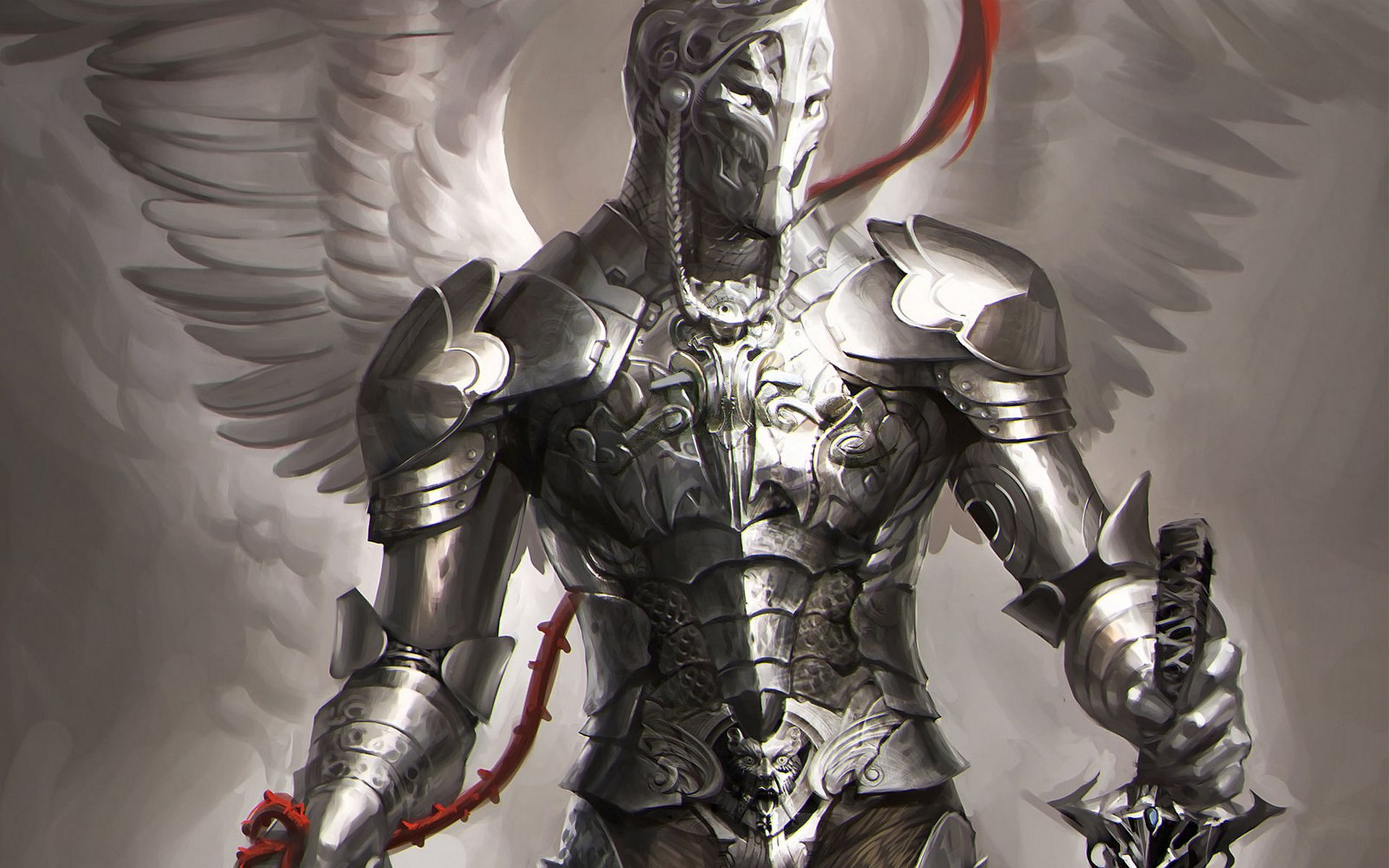 warrior angel art angel knight wallpapers pictures