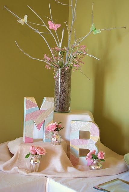 Diy monogram decoration craft for birthday party baby shower wedding holiday or home decor also rh pinterest
