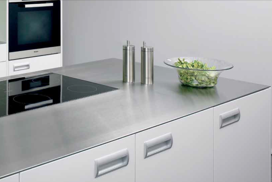Thin Island Worktop In Stainless Steel Dun Rvs Eiland Werkblad