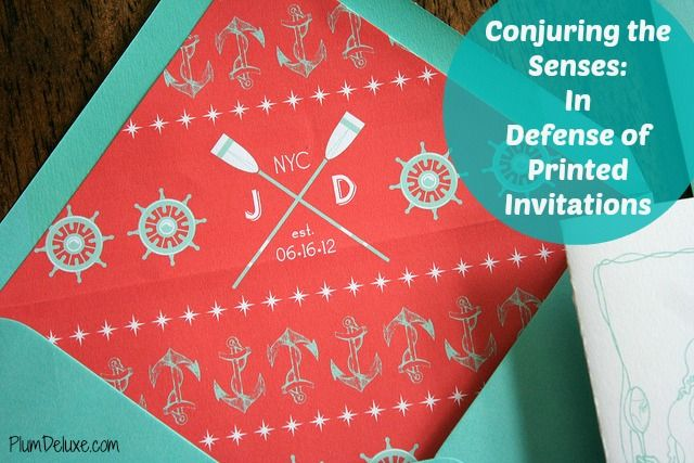In Defense of Printed Invitations by Janice Bear #party