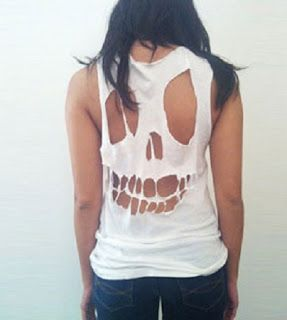 ¡con un poco de maña !( tutorial, diy clothes,reciclar , idea, ropa , personalizar ropa, diy ,skull, punk,calavera, fashion)