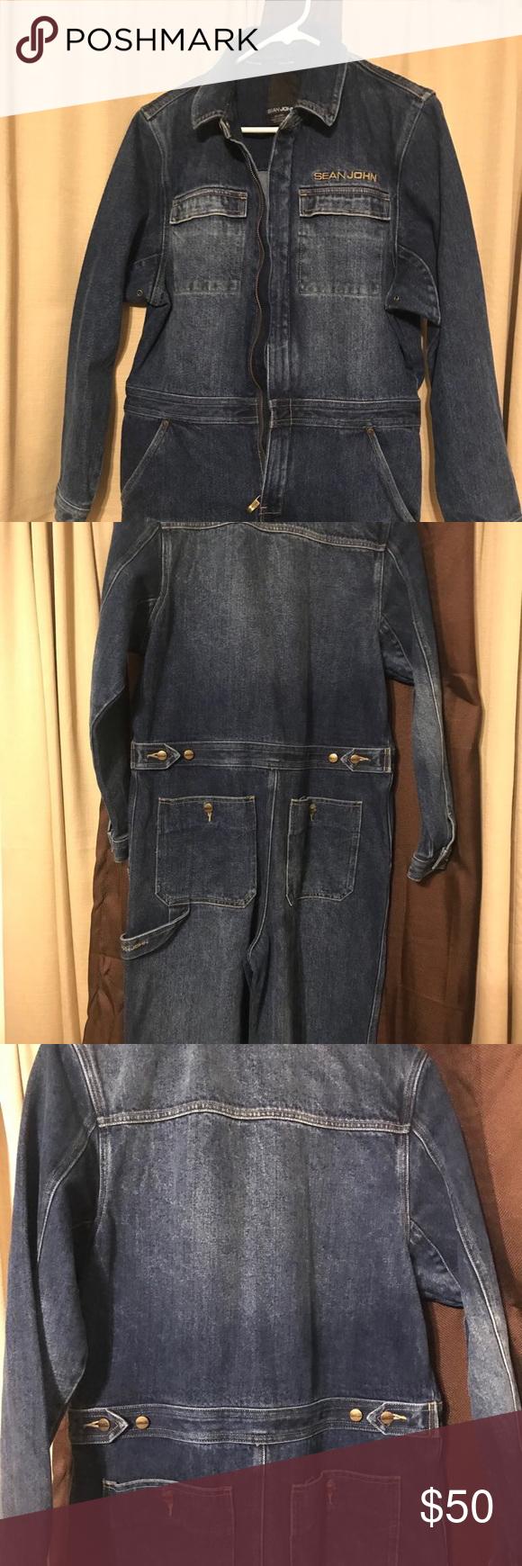 Sold Sean John Denim Jumpsuit Excellent Condition Denim Jumpsuit Denim Sean John Jeans [ 1740 x 580 Pixel ]