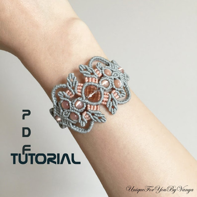 Tribal Inspired Micro Macrame Jewelry and Tutorials by UniqueForYouByVanya - The Beading Gem's Journal