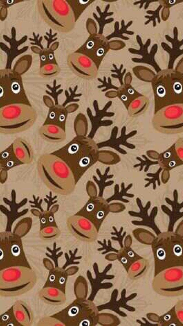 Christmas Reindeer Background Wallpaper Iphone Christmas Christmas Wallpaper Holiday Wallpaper