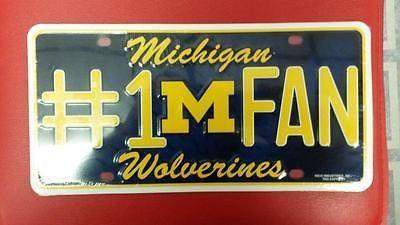 NCAA Michigan Wolverines Metal #1 Fan License Plate
