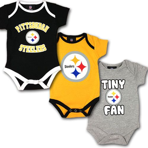Steelers Baby Clothes Steelers 3 Pack Baby Body Suits  Steelers  Pinterest