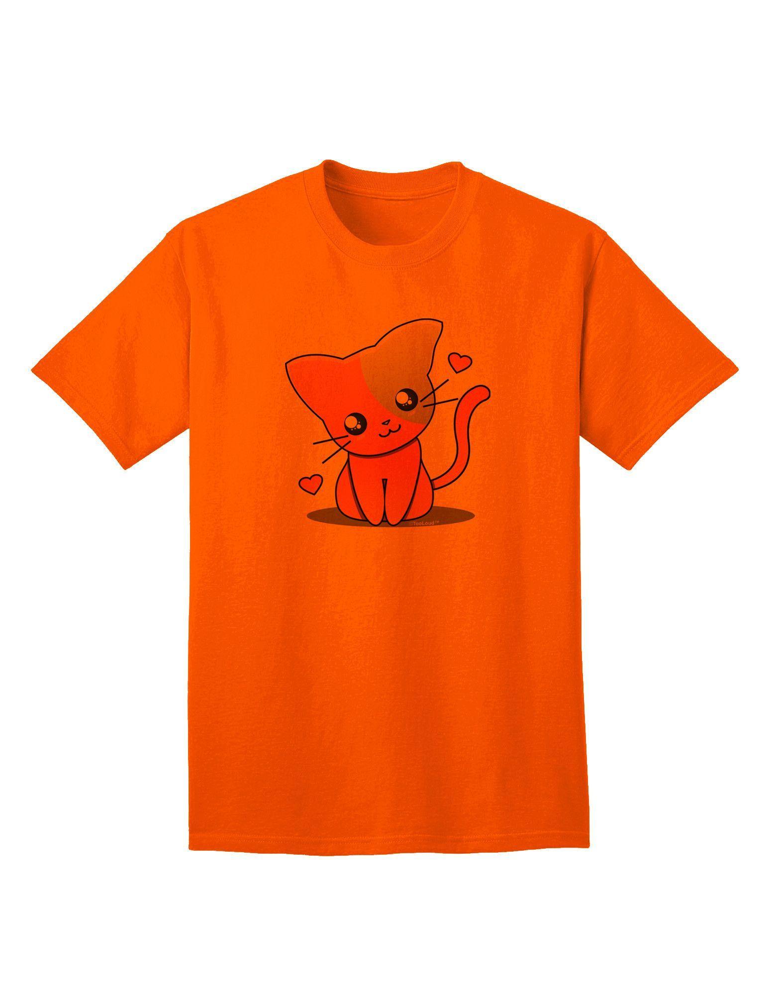 TooLoud Kawaii Kitty Adult T-Shirt