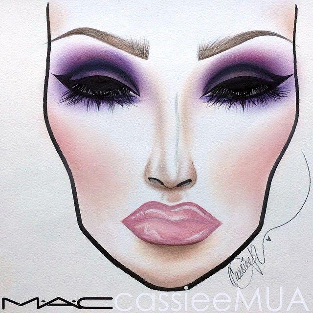 @cassieemua Instagram photos | MAC Makeup illustrations ♦F&I♦