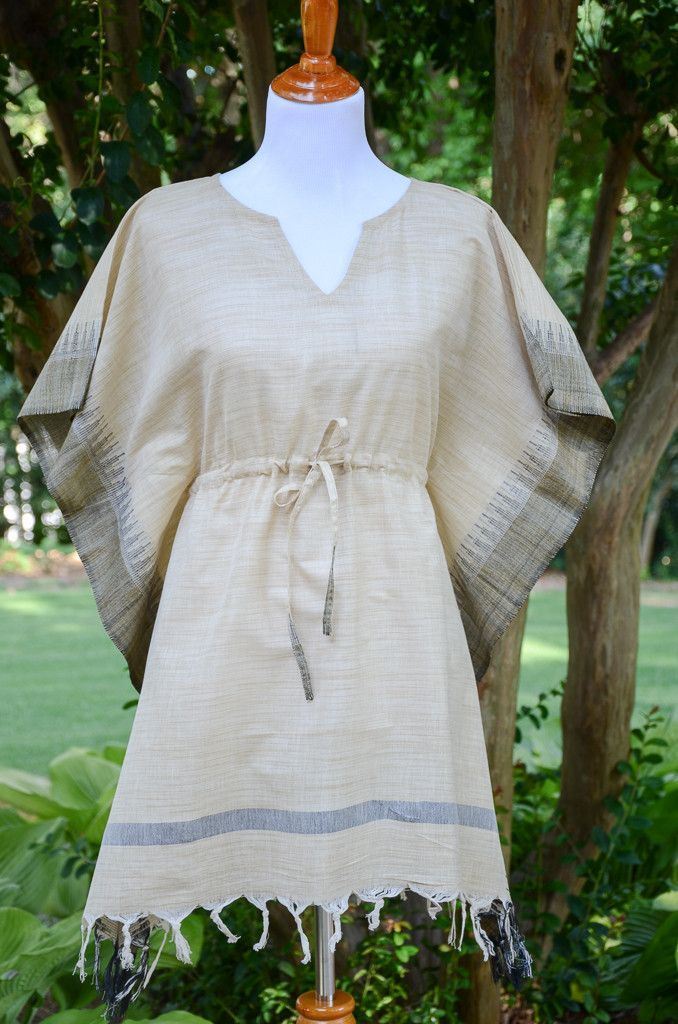 42cc31a9ea8 Pair this lightweight tunic with capris for instant style. The drawstring  waist creates a flattering silhouette. - 100% handloom cotton and linen mix  ...