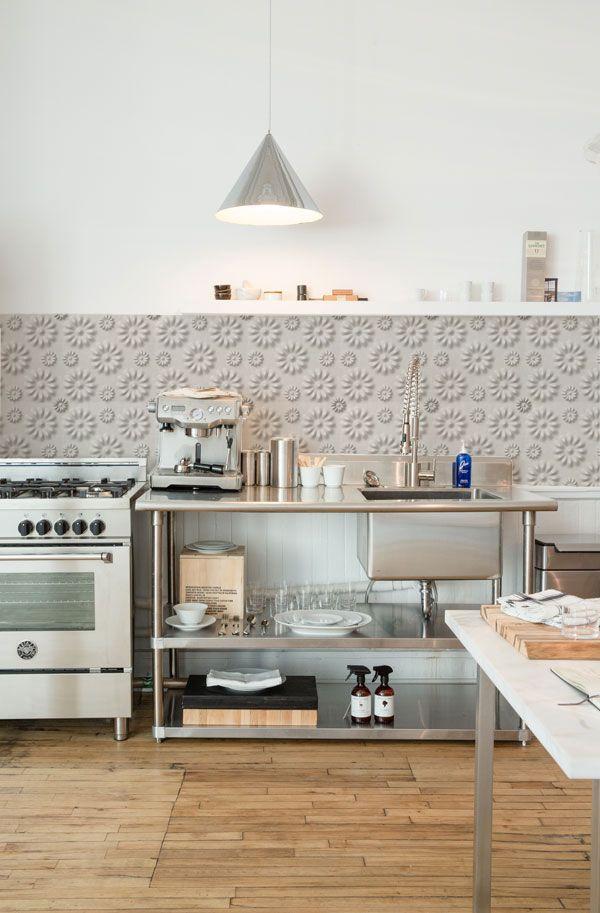 kitchenwalls backsplash wallpaper kuche tapete 3d blum Kitchen
