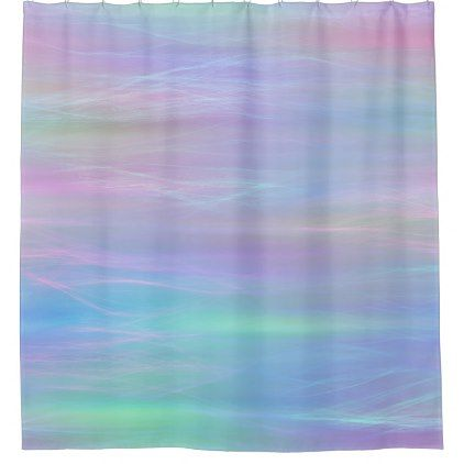 Whimsical Bath Chic Colorful Pastel Trendy Fairy Shower Curtain