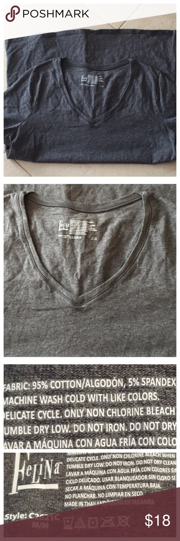 Perfect little gray Tee Beautiful like new condition.  ❌NO OFFERS ON BUNDLES Fe Lina Tops Tees - Short Sleeve
