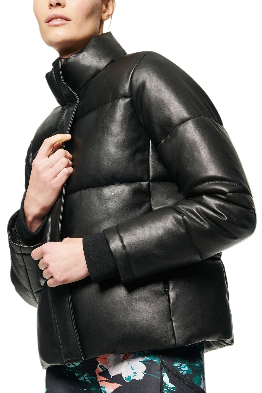 Andrew Marc Faux Leather Puffer Jacket Nordstrom Rack Leather Puffer Jacket Leather Leather Puffer Jacket Outfit [ 1300 x 868 Pixel ]