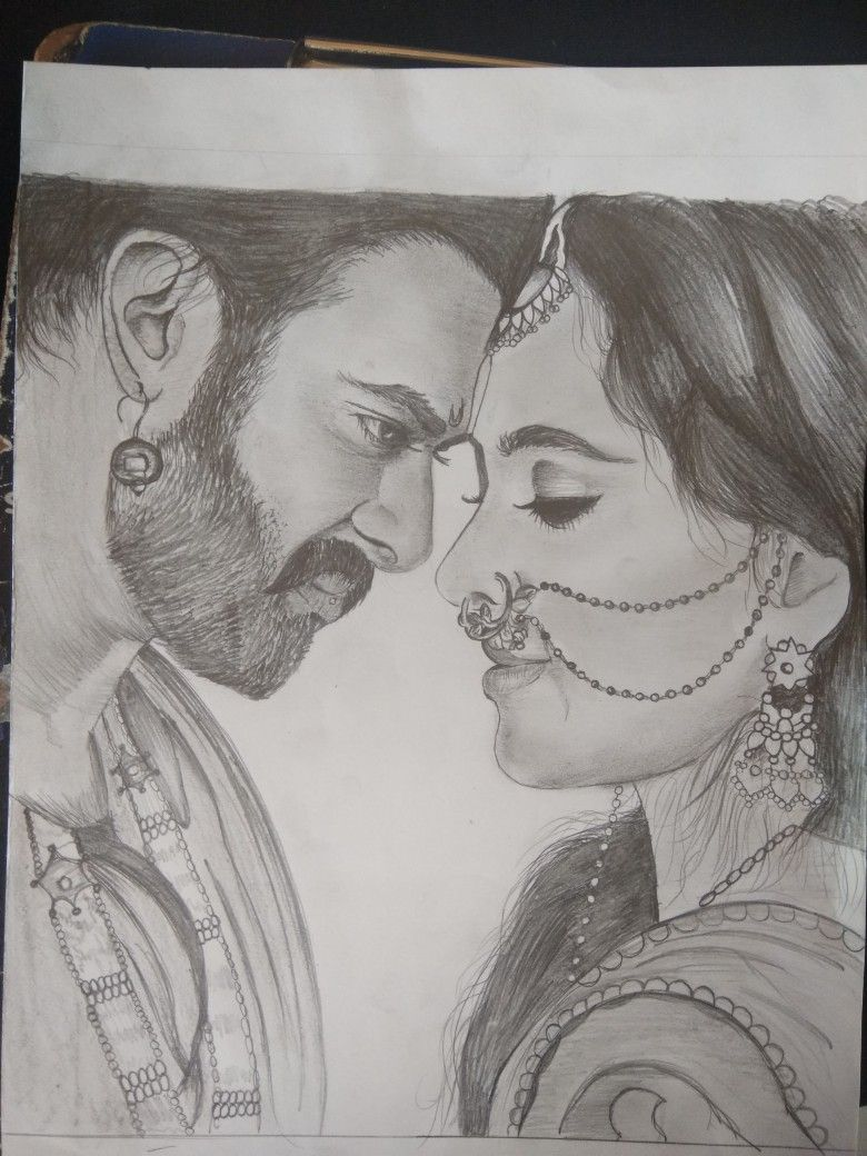Bahubali and devsena sketch sketches of famous people in 2019