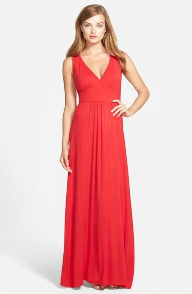 9a43bd1cbc762 Loveappella V-Neck Jersey Maxi Dress (Regular & Petite) available at # Nordstrom