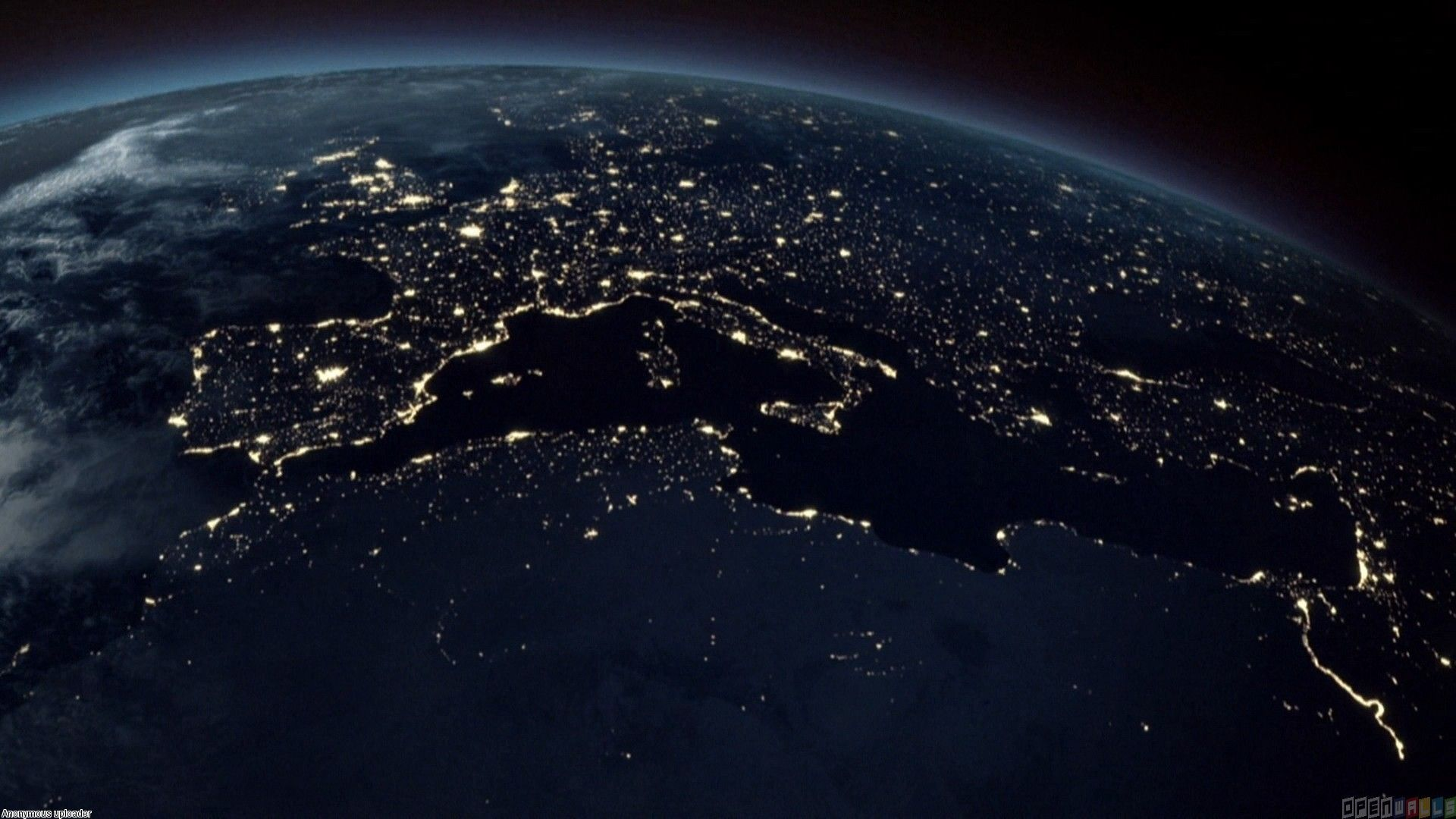Satellite View At Night Wallpaper Wallpaper Earth Earth From
