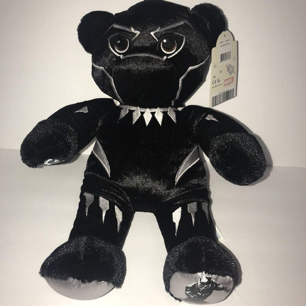 Build A Bear Marvels Tchalla Black Panther Plushie Stuffed Birth