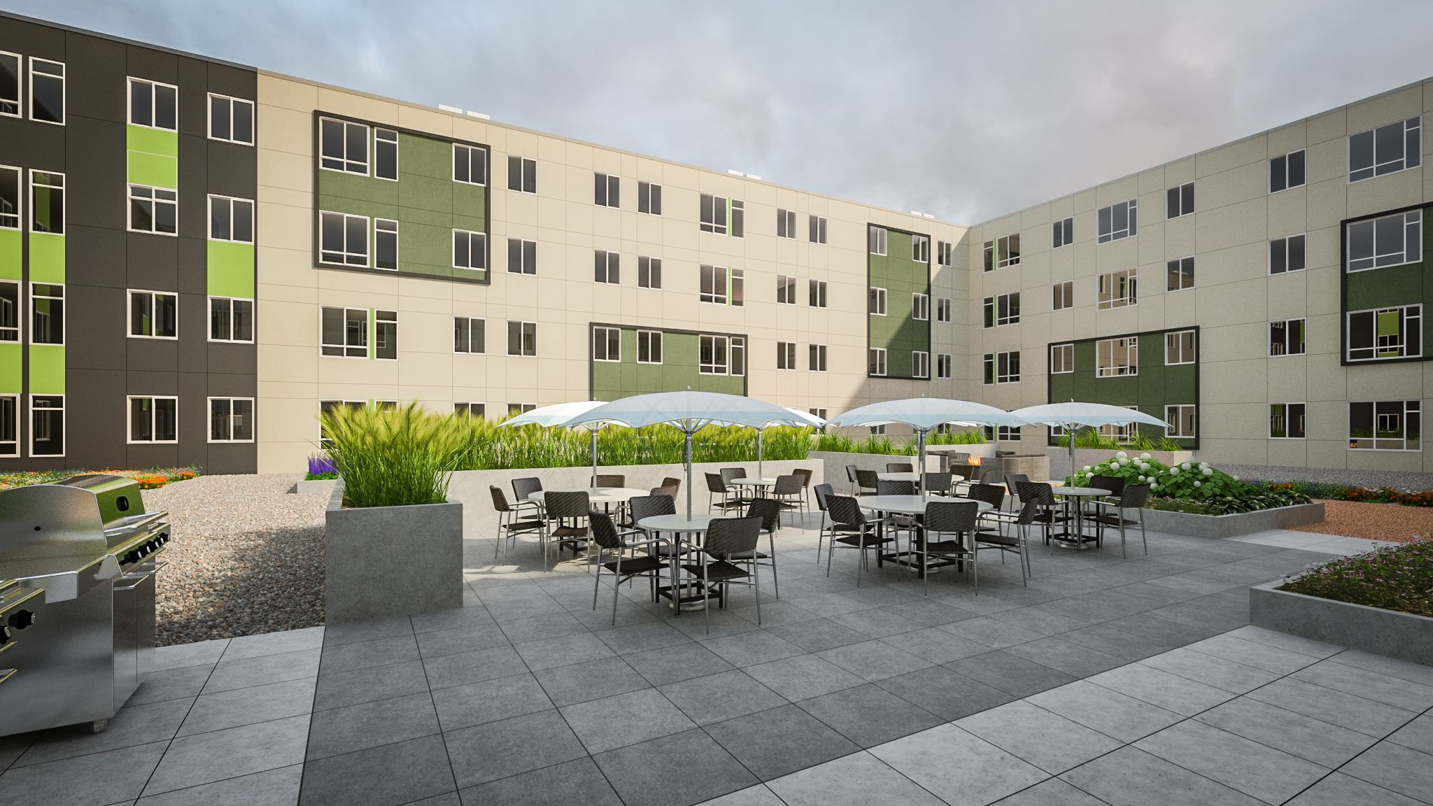 social lounge for residents to gather evolve apts at carbondale