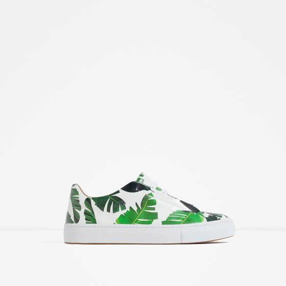 womens Skateboarding Shoes Canvas banana palm leaves Sport Sneaker