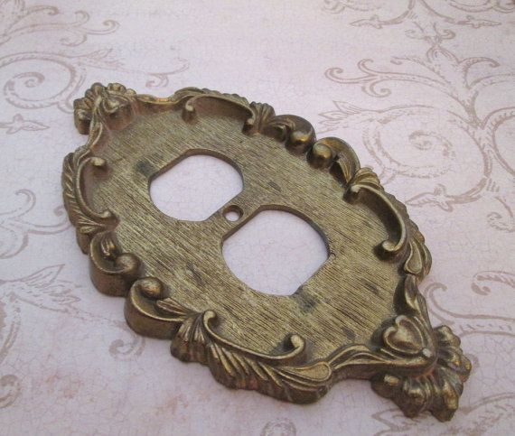 Vintage Solid Brass Switch Plate Cover Light Switch Cover Single Toggle Switchplate Cover Metal Switch Plate Wall Switch Cover Decorative Switch Plate Switch Plate Covers Light Switch Covers