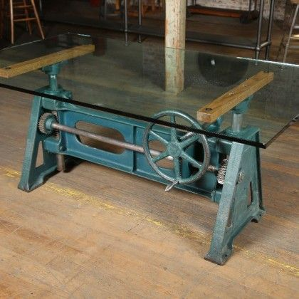 Original, Vintage Industrial Adjustable Table! You Wonu0027t Find This In A  Chain