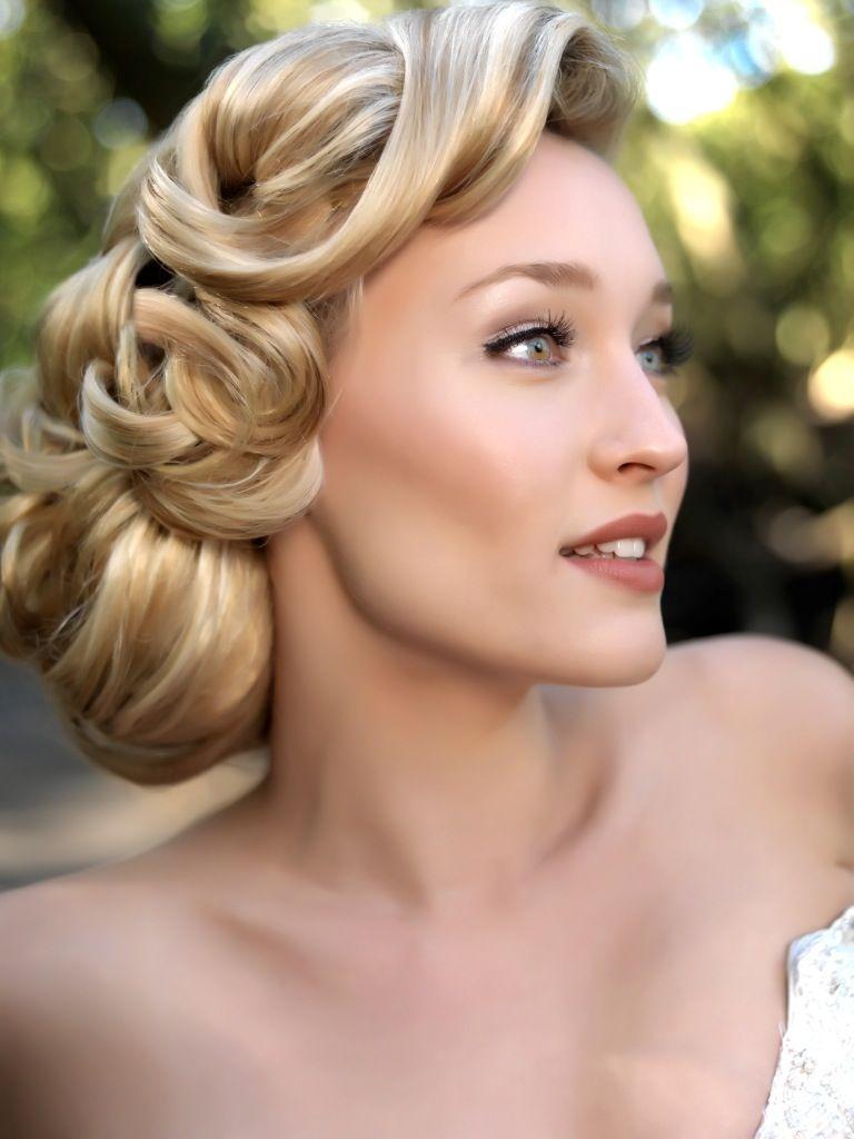 hollywood 1940s wedding hair