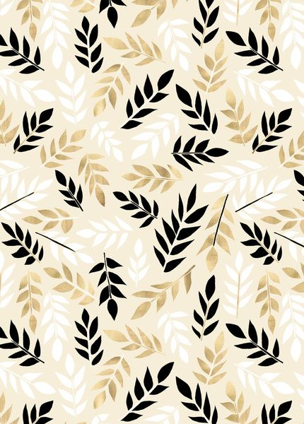 Black White Gold Fronds Art Print By Tangerine Tane White And Gold Wallpaper Gold And Black Wallpaper Black And Gold Aesthetic