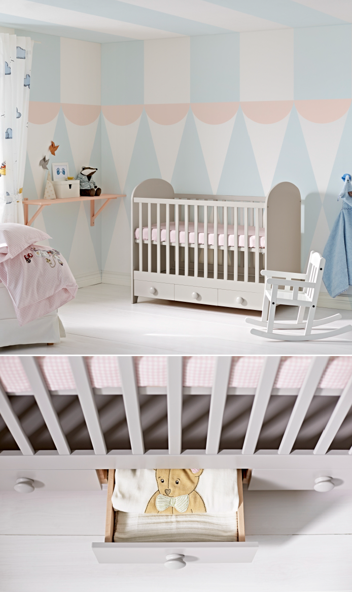 Gonatt Crib Light Gray 27 1 2x52 With Images Kids Bedroom