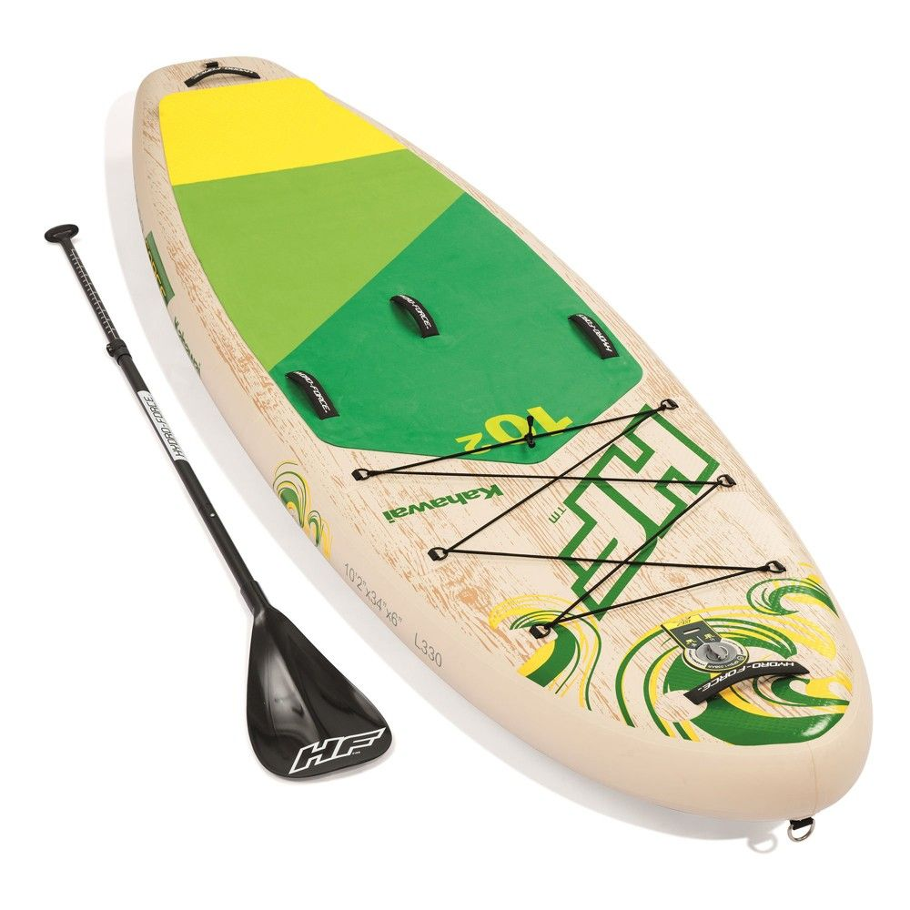 Bestway Hydro Force Kahawai 10 Foot Inflatable Sup Paddle Board Package W Pump Sup Paddle Sup Paddle Board Paddle Surfing