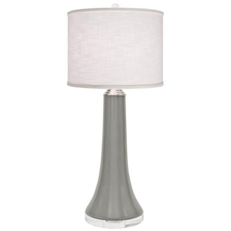 Thumprints Juicy Slate Gray Linen Shade Table Lamp X2176 Lamps Plus Lamp Linen Shades Table Lamp