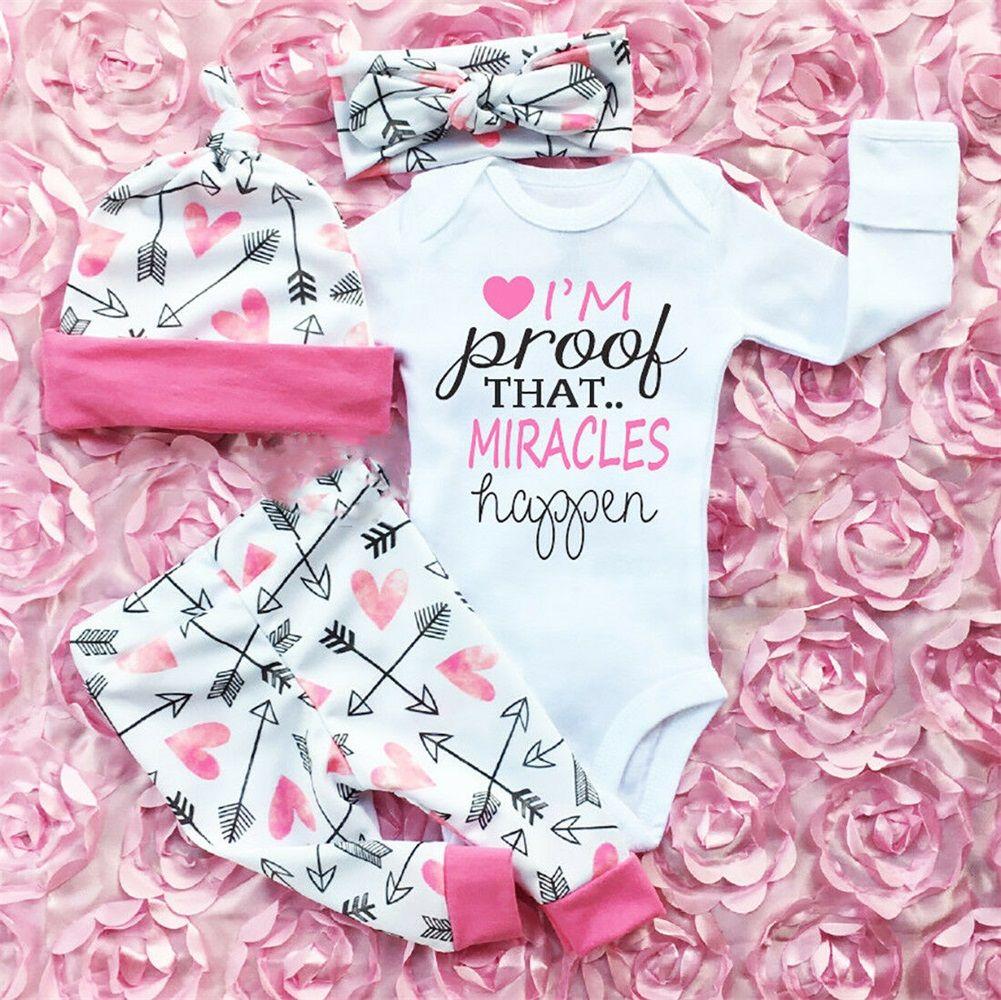 XIAXAIXU - Infant Newborn Baby Girls Romper Jumpsuit Bodysuit+Long