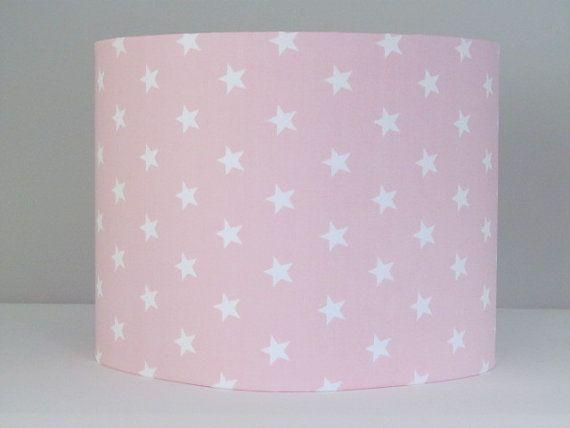 Baby rooms handmade lamp shades for baby nursery light pink white baby rooms handmade lamp shades for baby nursery light pink white star 20cm mozeypictures Choice Image