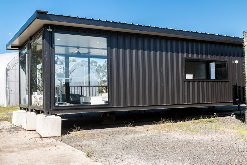 Sales Office Made With 2x40ft Shipping Containers From Australia Living In A Container In 2020 Container House Plans Container House 40ft Container