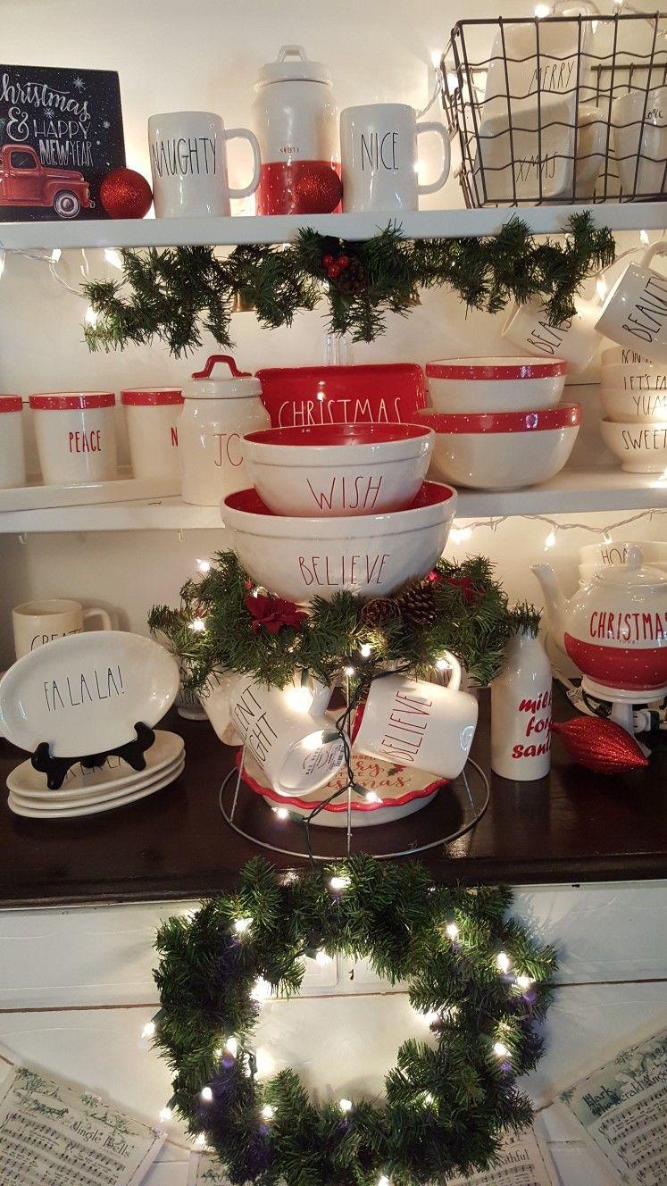 Rae Dunn Christmas Rae Dunn In 2019 Christmas Decorations