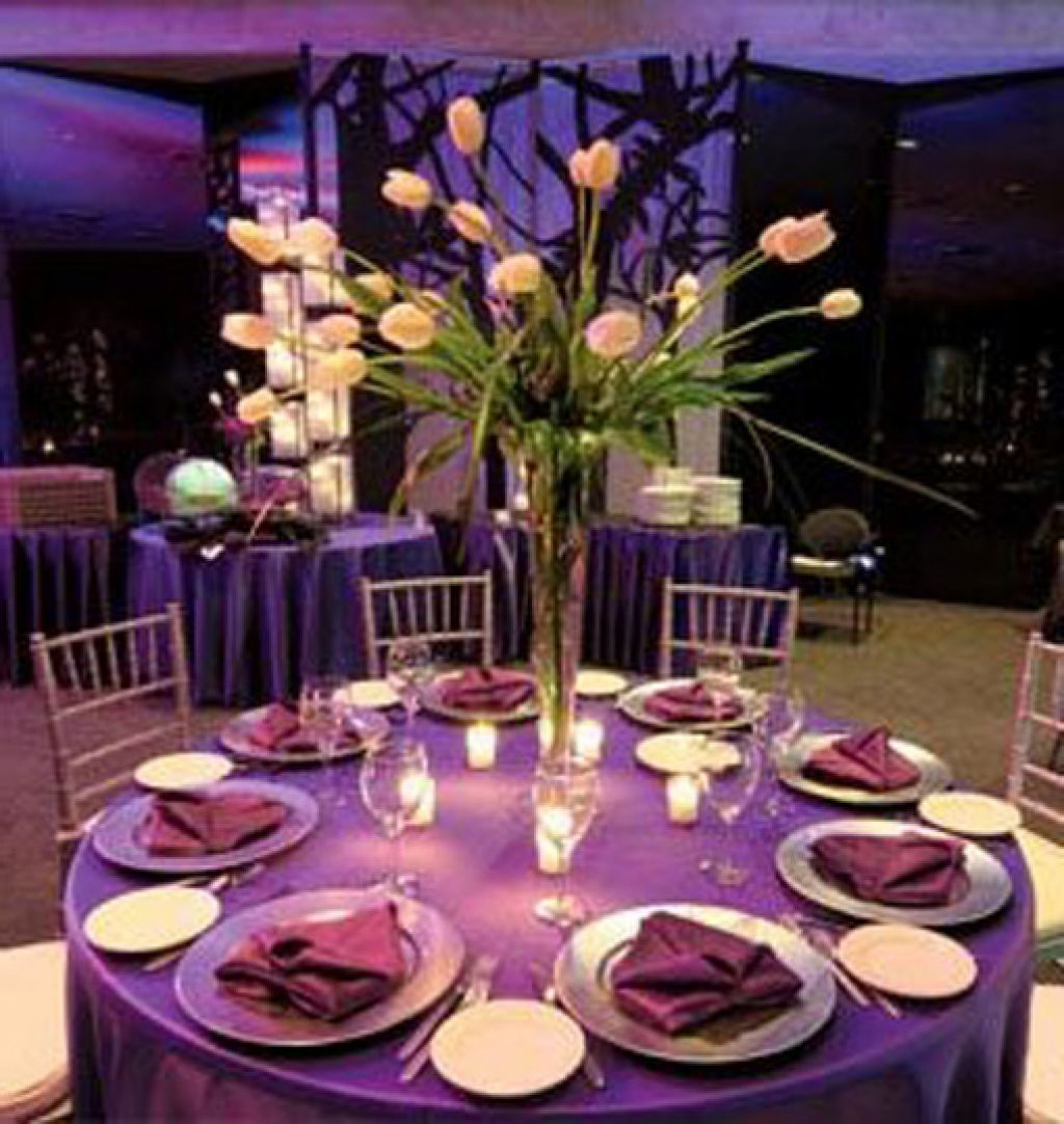 Ordinaire Purple And Green Wedding Centerpieces Purple Wedding Centerpiece