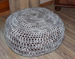 Sitzpouf Sitzsack Pouf Häkeln Aus Textilgarn Diy Häkeln