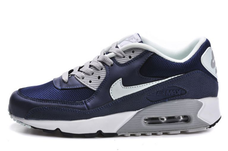 Chaussures Nike Air Max 90 Essential bleues Casual homme Elite