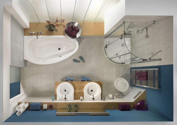 Kleines Badezimmer Ideen & Lösungen | Badkamer | Pinterest Ideen Badezimmer