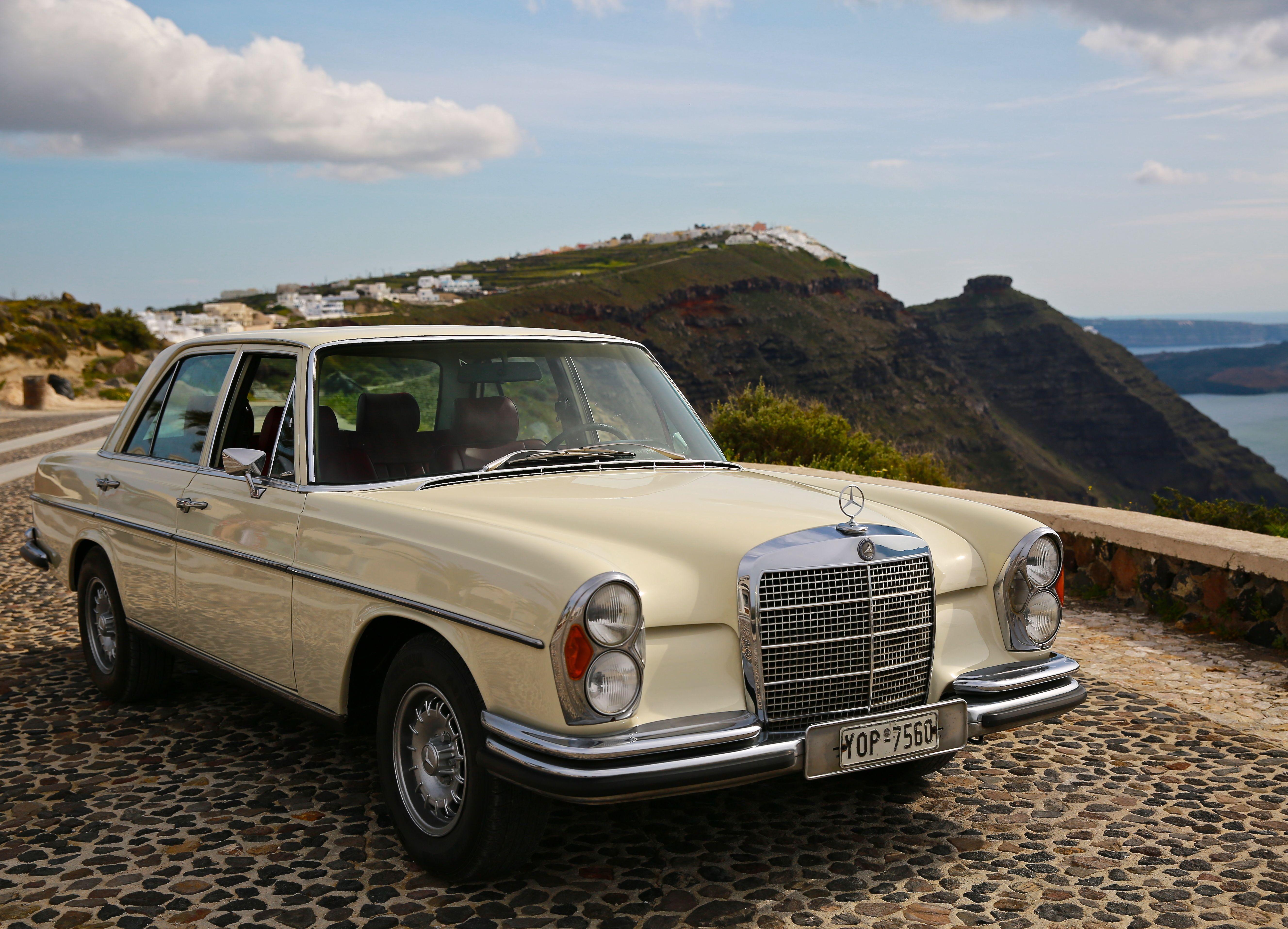 Mercedes Americana Vintage Model Wedding Cars Santorini - Cool cars santorini